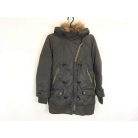【中古】 カリテ qualite ダウンコート サイズ2 M レディース ダークグレー 冬物/キルティング