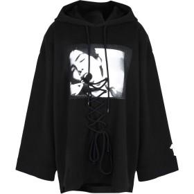 《期間限定 セール開催中》FENTY PUMA by RIHANNA レディース スウェットシャツ ブラック XS コットン 91% / ナイロン 9% LS FRONT LACING HOODY