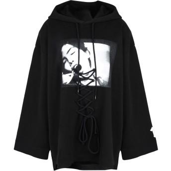 《期間限定セール開催中!》FENTY PUMA by RIHANNA レディース スウェットシャツ ブラック XS コットン 91% / ナイロン 9% LS FRONT LACING HOODY