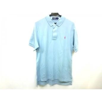 【中古】 ポロラルフローレン POLObyRalphLauren 半袖ポロシャツ サイズL メンズ ライトブルー