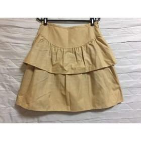 【中古】 ヨークランド YORKLAND スカート サイズ11AR M レディース ベージュ ティアード/チェック柄