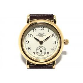 【中古】 カシオ CASIO 腕時計 Traddy LV-365 レディース 革ベルト 白