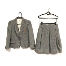 【中古】 オブジェクトスタンダード スカートスーツ サイズ36 S レディース グレー 肩パッド