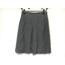【中古】 ジユウク 自由区/jiyuku スカート サイズ42 L レディース グレー