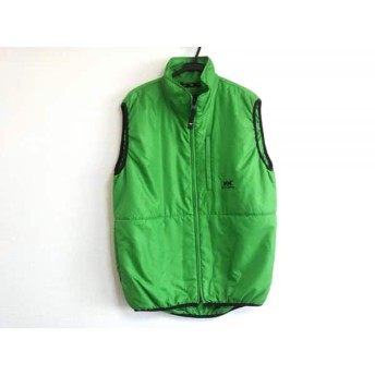 【中古】 ヘリーハンセン HELLY HANSEN ダウンベスト サイズM メンズ 美品 ライトグリーン 冬物/中綿