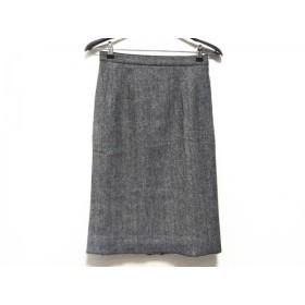 【中古】ドルチェアンドガッバーナ DOLCE & GABBANA スカート サイズ42 M レディース 黒xライトグレー