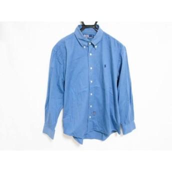 【中古】 ポロラルフローレン POLObyRalphLauren 長袖シャツ サイズM メンズ ブルー