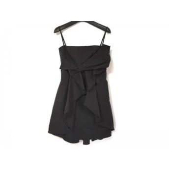 【中古】 フォクシーニューヨーク FOXEY NEW YORK ドレス サイズ40 M レディース 美品 黒