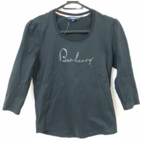 【中古】 バーバリーロンドン Burberry LONDON 七分袖Tシャツ サイズ1 S レディース 黒