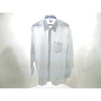 【中古】 バーバリーズ Burberry's 長袖シャツ サイズ45-84 メンズ 白 ネイビー グレー ストライプ 綿