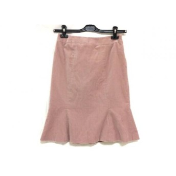 【中古】 エムズグレイシー M'S GRACY スカート サイズ38 M レディース ピンク ベロア