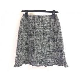 【中古】 アニエスベー agnes b スカート サイズ36 S レディース 黒 白