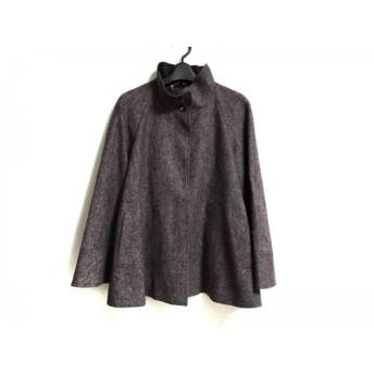 【中古】 ダックス ジャケット サイズ38 L レディース ボルドー ライトグレー Luxury Fabric by MOON