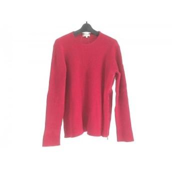 【中古】 エンポリオアルマーニ EMPORIOARMANI 長袖セーター サイズ52 XL レディース レッド サイドジップ