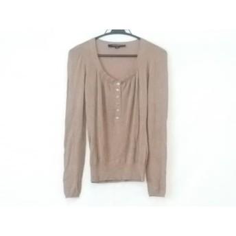 【中古】 マテリア MATERIA 長袖セーター サイズ38 M レディース ブラウン ラメ