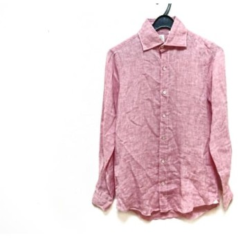 【中古】 フィナモレ finamore 長袖シャツブラウス サイズ38 M レディース 美品 ピンク Finamore Napoli