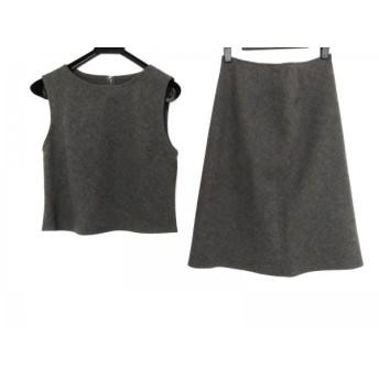 【中古】 クロエ Chloe スカートセットアップ サイズ42 L レディース グレー