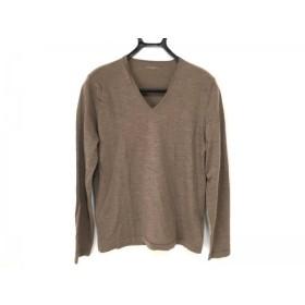 【中古】 ジョセフオム JOSEPH HOMME 長袖セーター サイズ46 XL メンズ ダークブラウン