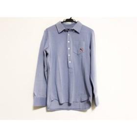 【中古】 パーリーゲイツ PEARLY GATES 長袖ポロシャツ サイズ4 XL メンズ 美品 ブルー