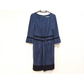 【中古】 ビアッジョブルー Viaggio Blu ワンピース サイズ2 M レディース ネイビー 黒