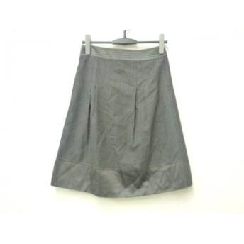 【中古】 バーバリーロンドン Burberry LONDON スカート サイズF レディース ダークグレー