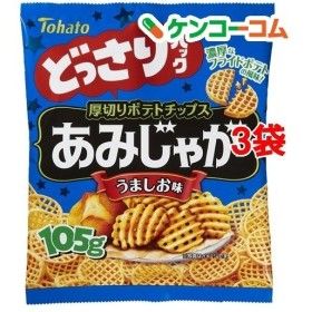 東ハト どっさりパック あみじゃが うましお味 ( 105g3袋セット )