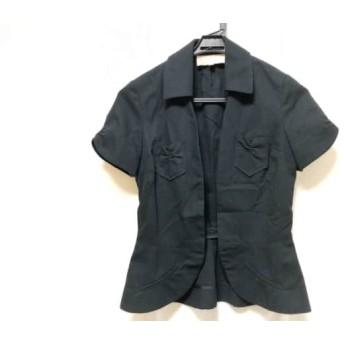【中古】 ジルスチュアート JILL STUART ジャケット サイズS レディース 黒 コットン