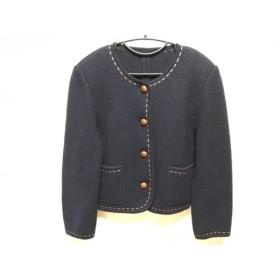 【中古】 コルディア CORDIER ジャケット サイズ40 M レディース ネイビー ブラウン ニット