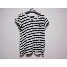 【中古】 セオリー theory 半袖Tシャツ サイズS レディース アイボリー 黒 ボーダー