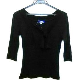 【中古】 バーバリーブルーレーベル 七分袖カットソー サイズ38 M レディース 美品 黒