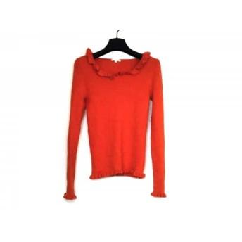 【中古】 トゥービーシック TO BE CHIC 長袖セーター サイズ2 M レディース オレンジ フリル