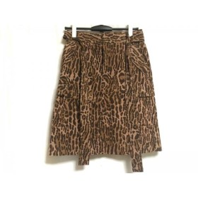 【中古】 ミュベール スカート サイズ38 M レディース ライトブラウン ダークブラウン マルチ 豹柄