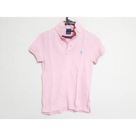 【中古】 ラルフローレン RalphLauren 半袖ポロシャツ サイズM レディース ピンク THE SKINNY POLO