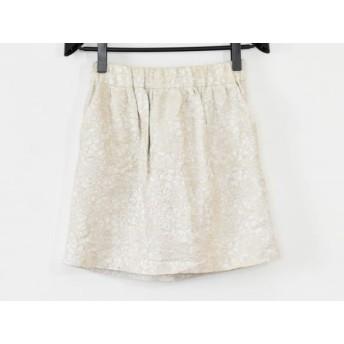 【中古】 アドーア ADORE スカート サイズ38 M レディース アイボリー フラワー