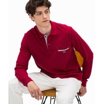 ポイントストライプポロシャツ(長袖)
