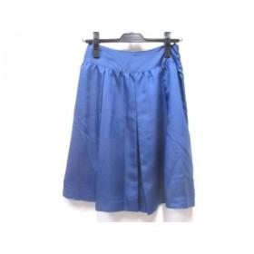 【中古】 ナチュラルビューティー ベーシック NATURAL BEAUTY BASIC スカート サイズM レディース 青