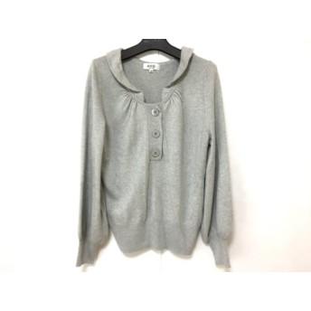 【中古】 ジユウク 自由区/jiyuku 長袖セーター サイズ40 M レディース ライトグレー