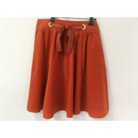 【中古】 アプワイザーリッシェ Apuweiser-riche ミニスカート サイズ1 S レディース オレンジ