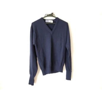 【中古】 バーバリーズ Burberry's 長袖セーター サイズM メンズ ダークネイビー
