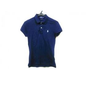 【中古】 ポロラルフローレン POLObyRalphLauren 半袖ポロシャツ サイズS160/84A レディース ネイビー 白