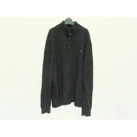 【中古】 ポロラルフローレン POLObyRalphLauren 長袖セーター サイズXXL XL メンズ 黒 ハイネック