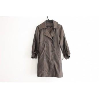 【中古】 ドゥクラッセ DoCLASSE コート サイズ9 M レディース ブラウン ライトグリーン