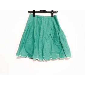 【中古】 アプワイザーリッシェ Apuweiser-riche スカート サイズ1 S レディース グリーン 白