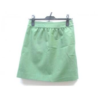 【中古】 イエナ IENA ミニスカート サイズ36 S レディース 黄緑