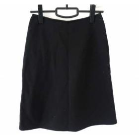 【中古】 アニエスベー agnes b スカート サイズ1 S レディース 黒 裏起毛