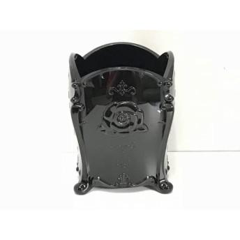 【中古】 アナスイ ANNA SUI 小物入れ 黒 フラワー プラスチック