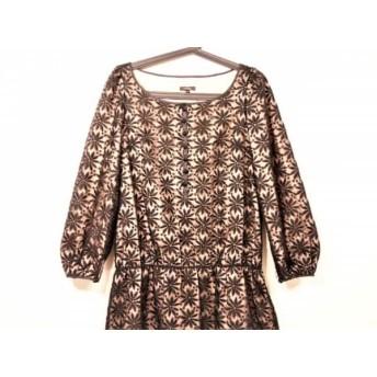 【中古】 トッカ TOCCA ワンピース サイズ2 S レディース 黒 ベージュ フラワー/刺繍