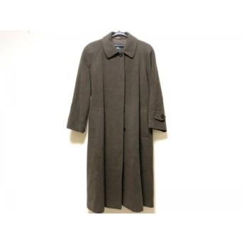 【中古】 バーバリーズ Burberry's コート サイズ7 S レディース ダークブラウン 冬物