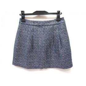 【中古】 ジュエルチェンジズ Jewel Changes スカート サイズ38 M レディース 青 マルチ