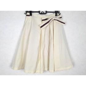 【中古】 ホコモモラ JOCOMOMOLA スカート サイズ42 L レディース アイボリー ボルドー